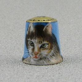 Porzellan Fingerhut - Kater