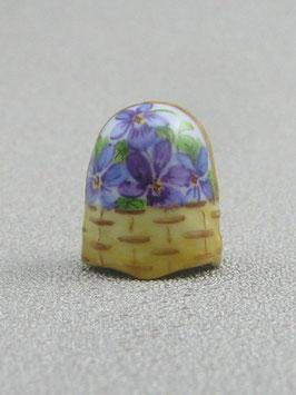 Porzellan Fingerhut - Blumenkorb
