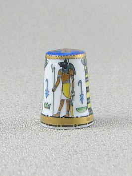 Porzellan Fingerhut - Anubis