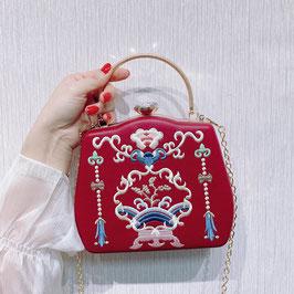 ☆漢風バッグ パーティバッグ レトロ 古典 復古調 中華風刺繍  ハンドバッグ ショルダーバッグ☆