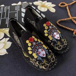 北京布靴 刺繍フラットシューズ  ≪貴妃花旦≫
