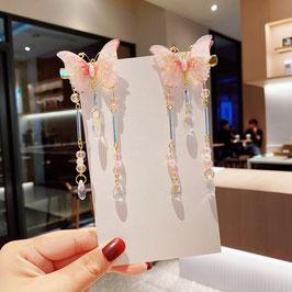 ヘアクリップ 漢風 中華風 チャイナドレス 漢服 髪飾り ヘアアクセ20210920 ピンク