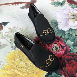 北京布靴 刺繍フラットシューズ  ≪悟空≫