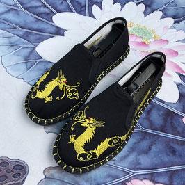 北京布靴 刺繍フラットシューズ ≪龍≫