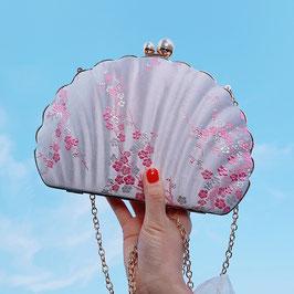 ☆貝殻バッグ パーティバッグ  チャイナドレス柄 がま口 ポシェットショルダーバッグ☆