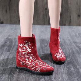☆ 中華風刺繍ブーツ 花蔦☆