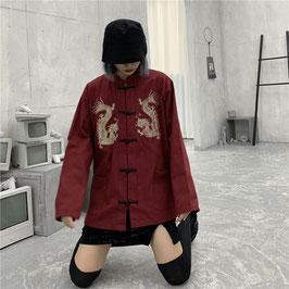 ☆龍刺繍 唐装上着 中華服 長袖☆