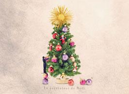 CP YP - Le décorateur de Noël