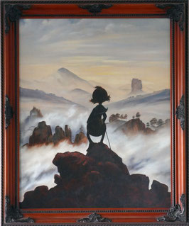 "Replik ""Der Wanderer über dem Nebelmeer"""