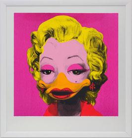"""Special : Original-Siebdruck """"Dandy Borehole - Marta Mortenson, pink"""" mit weißer Rahmung"""