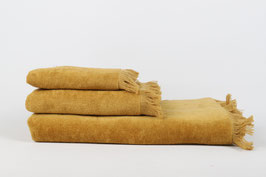 Velour Towel Mustard Gold