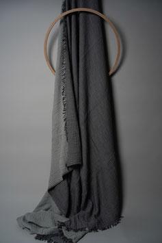 Crinkled Plaid Dark Grey