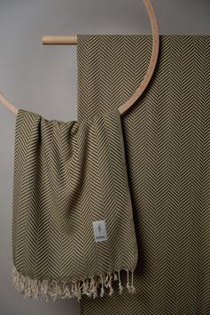 Kashkar Towel Green Olive