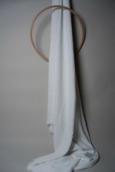 Crinkled Plaid All White