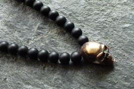 """Lavakette m. """"Small Skull"""" in Bronze"""