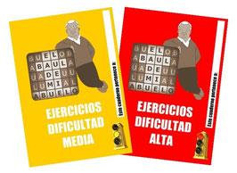 2 CUADERNOS DE EJERCICIOS (DIFICULTAD MEDIA Y ALTA)
