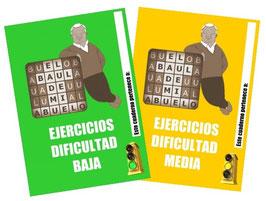 2 CUADERNOS DE EJERCICIOS (DIFICULTAD BAJA Y MEDIA)