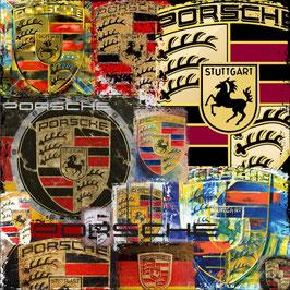 Art Logo Poster Porsche