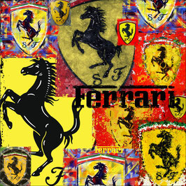 Art Logo Poster Ferrari