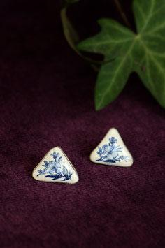 Keramik-Ohrringe dreieckig (blau)