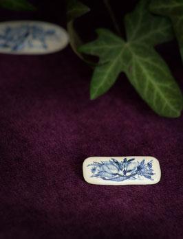 Keramik-Anstecker eckig (blau)
