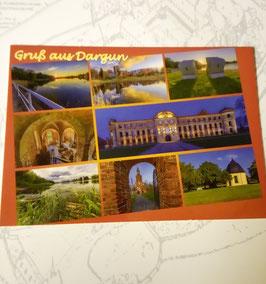 Ansichtskarte Dargun mit mehreren Objekten