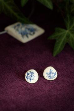 Keramik-Ohrringe rund (blau)