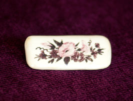 Keramik-Anstecker eckig (rot)