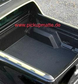 PickUpMatte / Antirutschmatte für Ford Ranger, Doppelkabine,  Form #1 - abgeflacht