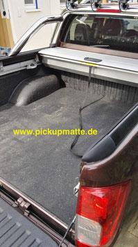 PickUpMatte für Nissan Navara NP300 / D231 mit Doppelkabine ohne Laderaumwanne mit Beschichtung