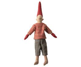 Kletter Pixie Junge, rote Socke