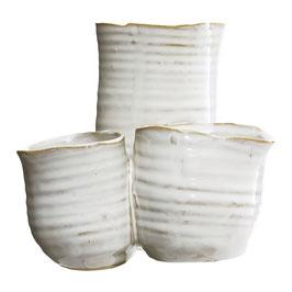 Vase 3, weiss