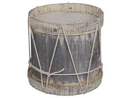 Vintage Trommel, handgefertigt, antik grau