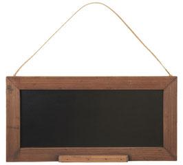 Tafel im Holzrahmen