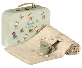 Baby Geschenk Set, dusty mint