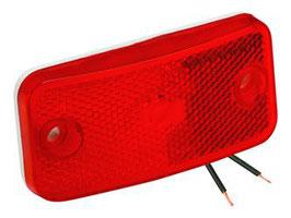 Side Light Marker Light, 178 Series Red compl.