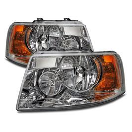 Front Headlights Set Chrome Fits Thor Motor Coach ACE 2011-2016 RV Motorhome left