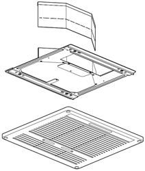 Air Conditioner Ceiling Assembly Grille