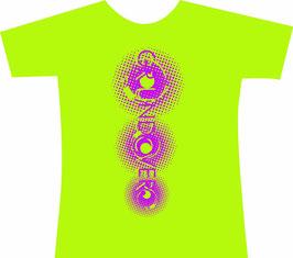 【緑ボディ×紫色プリント】GROUNDCOVER. LOGO T-shirts 2015
