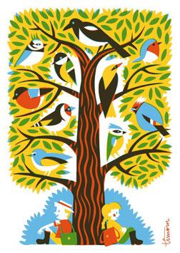 "Postkarte ""Vogelbaum"" (Kehvola)"