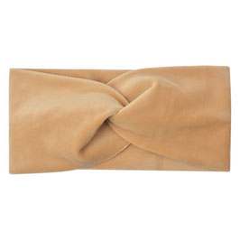 Samt Haarband / Stirnband Velvet caramel (Clayre & Eef)