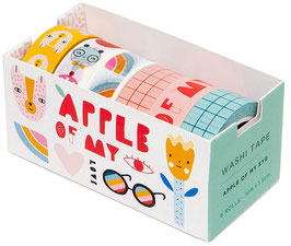6 Washi Tapes Apple of my Eye (PETIT MONKEY)