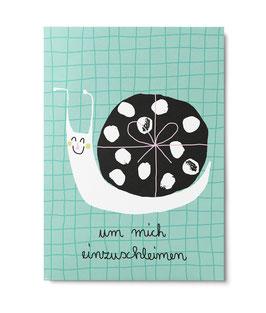 """Postkarte """"Schnecke"""" (Unter Pinien)"""