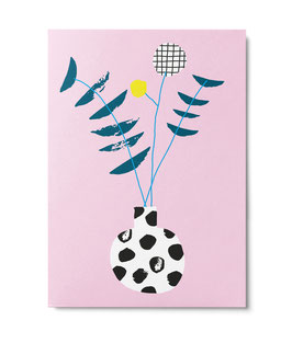 """Postkarte """"Blumenvase"""" (Unter Pinien)"""