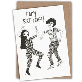 "Grußkarte ""DANCING COUPLE"" (Helen B) Happy Birthday!"