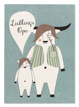 Postkarte LIEBLINGSOPA (Ava & Yves)