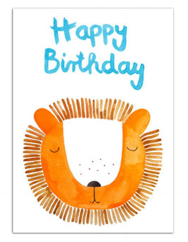 "Postkarte ""Happy Birthday LÖWE"""
