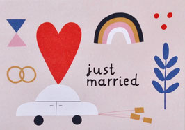 "Postkarte ""Just Married"" (Rasmussons)"