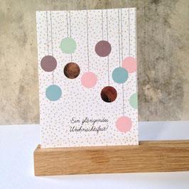 """Postkarte """"glänzende Weihnachten"""" (Rasmussons)"""