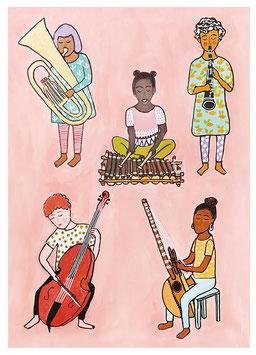 "Postkarte ""Worldmusic"" (Irmela H.)"